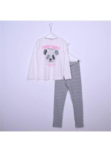 Silversun Kids Kız Çocuk Baskılı Pijama Takım - !Pjm 312976 Ekru